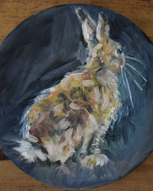 RH1 20cm diameter, oil on canvas