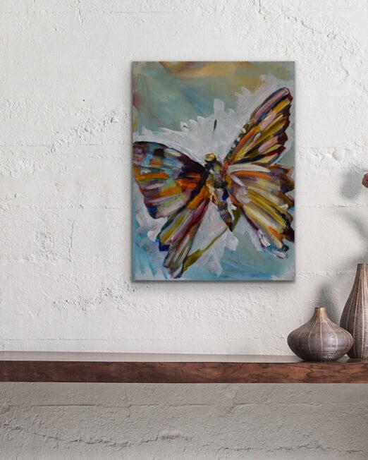 BoW 23 x 30.5cm, oil and acrylic on 2cm wood panel