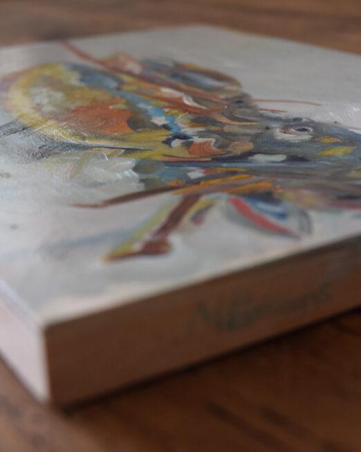 SLSoW 23 x 30.5cm, oil and acrylic on 2cm wood panel