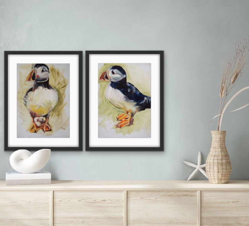 Puffin Front Print, 21 cm x 29.5cm